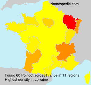 Surname Poincot in France