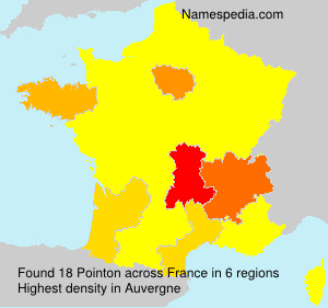 Surname Pointon in France