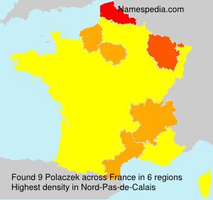 Surname Polaczek in France