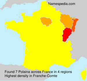 Surname Polaina in France