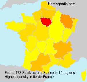 Surname Polak in France