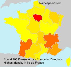 Familiennamen Polese - France