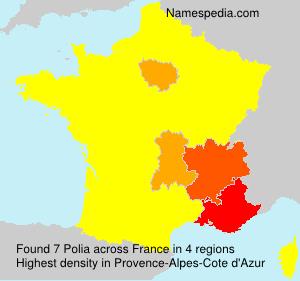 Surname Polia in France