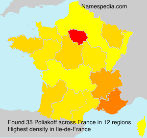 Surname Poliakoff in France