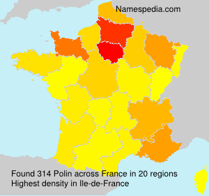 Surname Polin in France