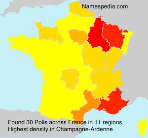 Surname Polis in France
