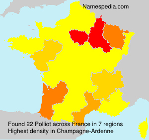 Surname Polliot in France
