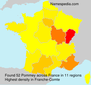 Surname Pommey in France
