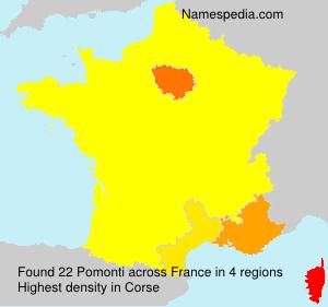 Surname Pomonti in France