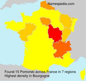 Surname Pomorski in France