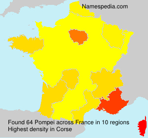 Surname Pompei in France
