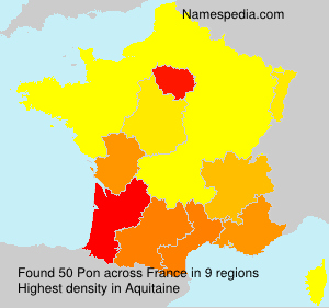 Surname Pon in France