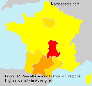 Surname Poncetta in France