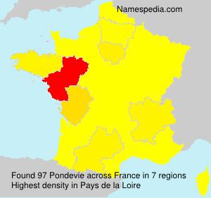 Surname Pondevie in France