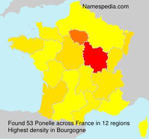 Familiennamen Ponelle - France