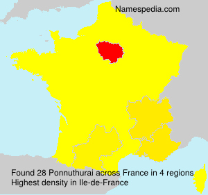 Surname Ponnuthurai in France