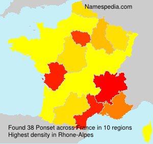 Surname Ponset in France