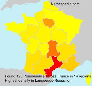 Surname Ponsonnaille in France