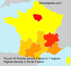 Surname Pontiac in France