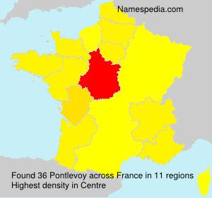 Surname Pontlevoy in France