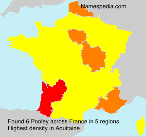 Surname Pooley in France