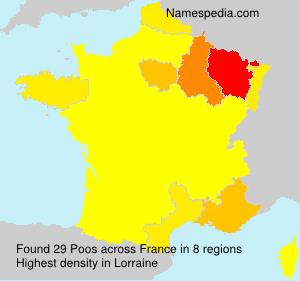 Familiennamen Poos - France