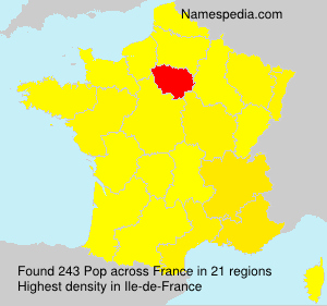 Surname Pop in France