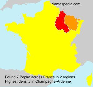 Familiennamen Popko - France