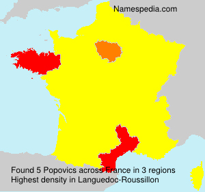 Familiennamen Popovics - France