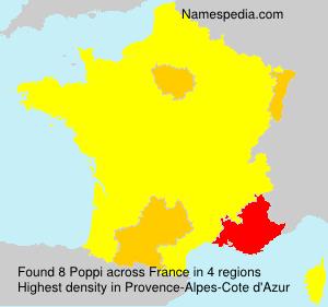 Surname Poppi in France