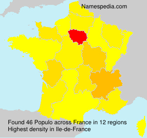 Surname Populo in France