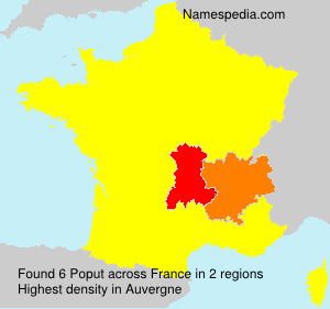 Surname Poput in France