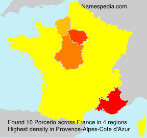 Surname Porcedo in France