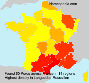 Surname Porco in France