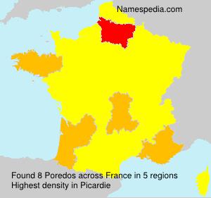 Surname Poredos in France