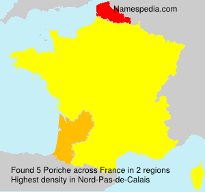 Surname Poriche in France