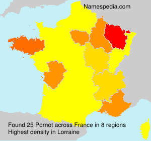 Surname Pornot in France