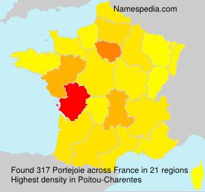 Familiennamen Portejoie - France