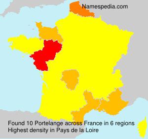 Surname Portelange in France