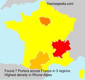 Familiennamen Portera - France