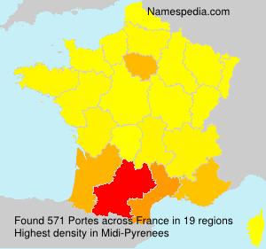 Surname Portes in France