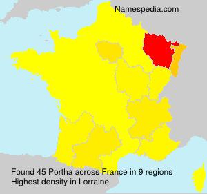 Surname Portha in France