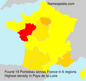 Surname Portoleau in France