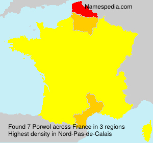 Surname Porwol in France