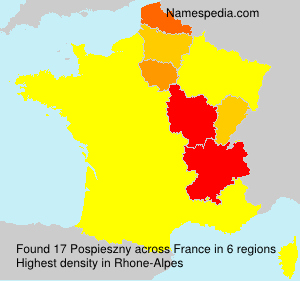Surname Pospieszny in France