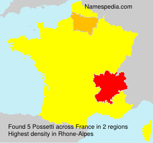 Surname Possetti in France
