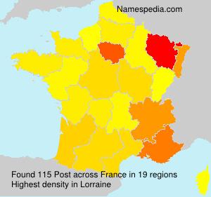 Surname Post in France