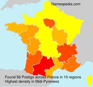 Surname Postigo in France