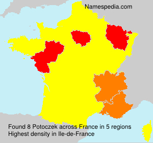 Surname Potoczek in France