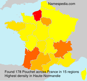 Surname Pouchet in France